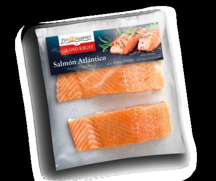 Porciones de salmón atlántico sin piel