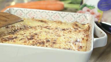 Shrimp and mussel lasagne