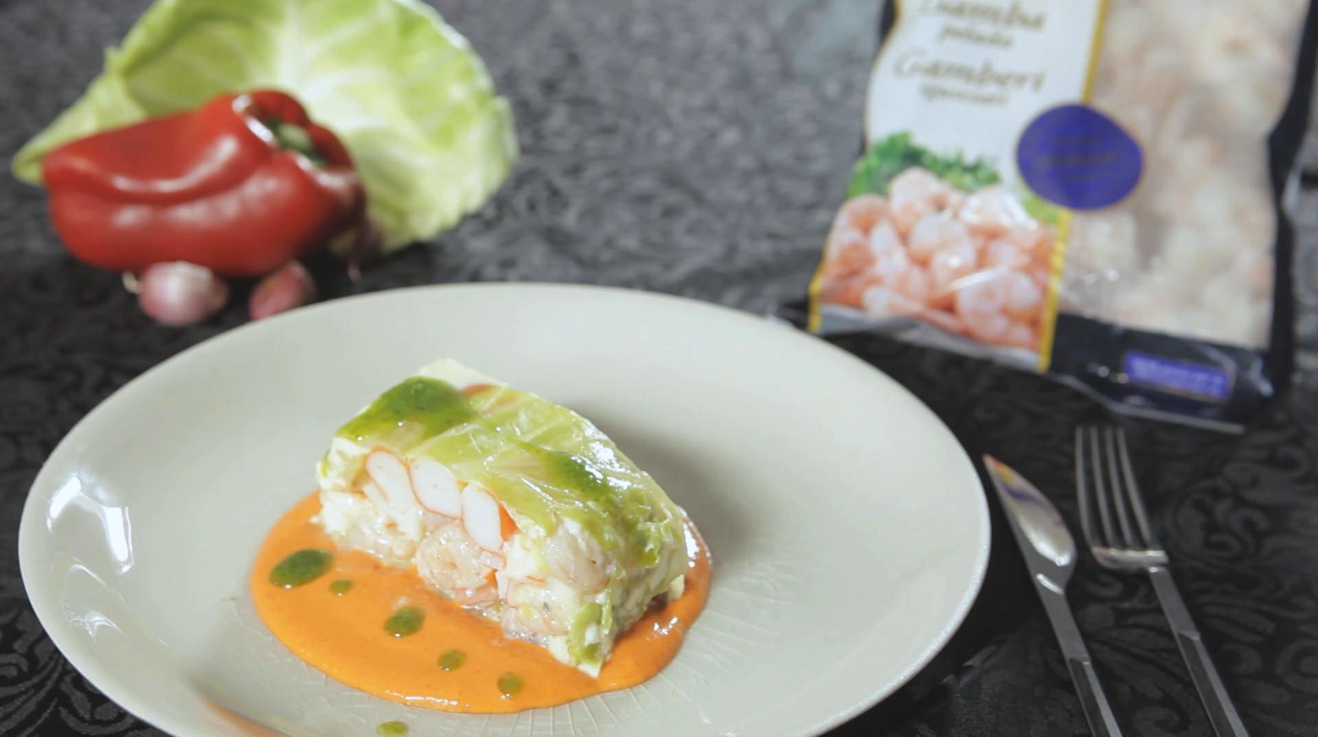 Shrimp and surimi terrine