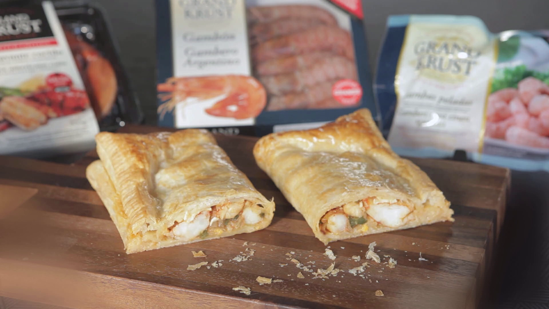 Puff Pastry with seafood
